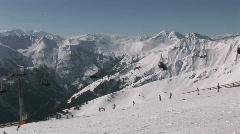 Ski elevator Stock Footage