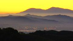 Napa - Sunrise zoom - stock footage