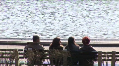 People watching in Central Park Stock Footage