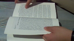 Turn the page Stock Footage
