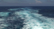 Stock Video Footage of Cruise Ship Wake: Boat Wake