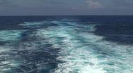 Stock Video Footage of Cruise Ship Wake: Boat Wake