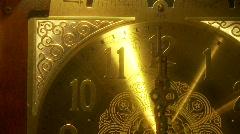 Grandfather Clock, Face, close up Stock Footage