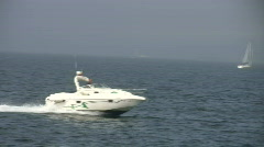 Sea motorboat Stock Footage