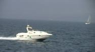 Sea motorboat Stock Footage