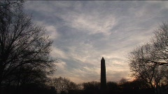 Silhouette of Egyptian obelisk in Central Park  Stock Footage