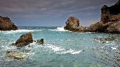 Sea and rocks Stock Footage