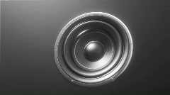 Abstract loudspeaker - HD 1080p loop.  Stock Footage