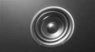 Abstract loudspeaker - HD 1080p loop.  Stock Footage