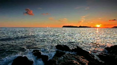 Sunset in Dubrovnik Stock Footage