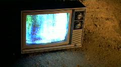 Retro TV - reststop-night-cu Stock Footage