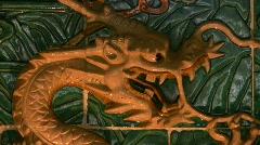 China Hong Kong Chinese nine dragons wall symbol Stock Footage