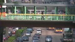 China Hong Kong highway traffic gridlock Stock Footage