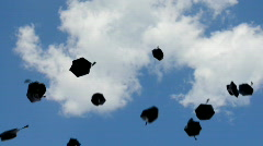 graduation - flying towards the sky - stock footage