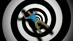 Vertigo Man Spinning HD1080 Loopable - stock footage