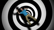 Vertigo Man Spinning HD1080 Loopable Stock Footage