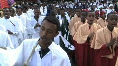 Priests Celebrating Timket, Addis Ababa, Ethiopia - stock footage