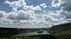 Clouds canyon lake time lapse Stock Footage