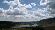 Stock Video Footage of clouds canyon lake time lapse
