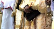 Priests Celebrating Timket, Addis Ababa, Ethiopia Stock Footage