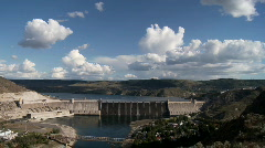 Grand Coulee Dam on the Columbia River Time Lapse Stock Footage