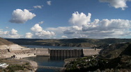 Stock Video Footage of Grand Coulee Dam on the Columbia River Time Lapse