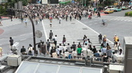 Stock Video Footage of Crowd at Hachiko Crossing in Shibuya