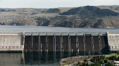Grand Coulee Dam on the Columbia River Stock Footage