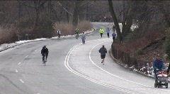Pond5 Stock WInter Park Road Jogging 1 Stock Footage