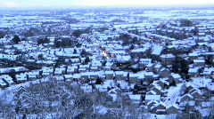 Wotton Town in winter snow Stock Footage