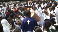 Priests Celebrating Timket, Addis Ababa, Ethiopia Stock Footage