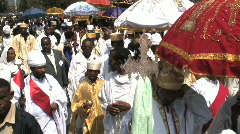 Stock Video Footage of Priests Celebrating Timket, Addis Ababa, Ethiopia