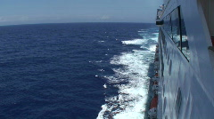Cruise Ship: Starboard Side - stock footage