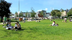 Eyre Square Galway Stock Footage