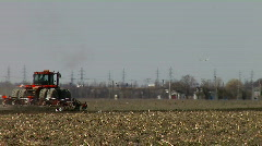 Farm Tractor in field #2 HD Stock Footage