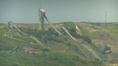 Canada Olympic Park 1988 Olympics site Stock Footage