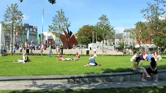 Eyre Square Galway 2 Stock Footage