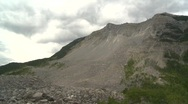 Stock Video Footage of natural disaster, Frank slide pan