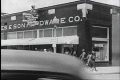 40s hardware store - stock footage