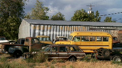 rural junk yard - stock footage