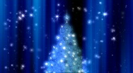Christmas Tree Animated Background with Sparkles Stock Footage