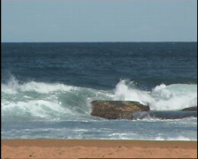 Surf Beach and Rocks - stock footage