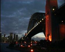 Sydney Harbour Bridge Night Stock Footage
