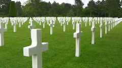 Omaha Beach, Normandy American Cemetery - stock footage
