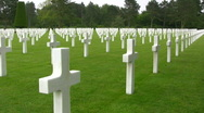 Stock Video Footage of Omaha Beach, Normandy American Cemetery