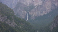 Stock Video Footage of Yosemite : Bridalveil Fall & Merced River 1 Zoom Out