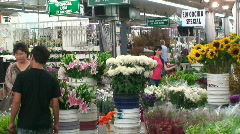 Los Angeles Flower District Stock Footage