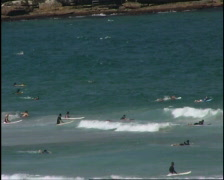 Surfers at Bondi Beach Sydney, Australia Stock Footage