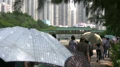 China Hong Kong apartment real estate property Stock Footage