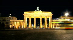 Brandenburg Gate T/lapse Stock Footage